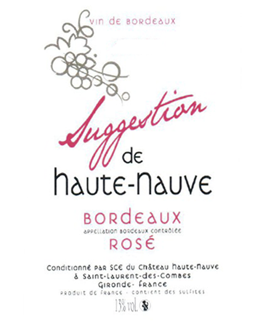 Etiquette Suggestion bordeaux rose